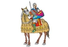 ausmalbilder ritter mit pferd