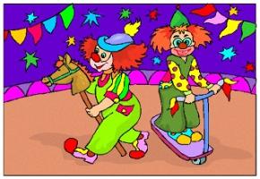 Ausmalbilder Zirkus Clown