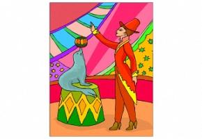 Ausmalbilder Zirkus Kostenlos