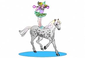 Ausmalbilder Zirkus Pferde