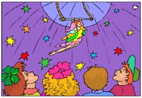 Zirkus Ausmalbilder Seiltänzerin